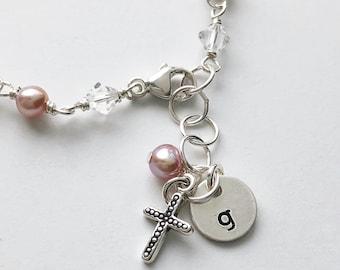 Girls Pink & White Bracelet