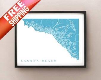 Laguna Beach Map Print