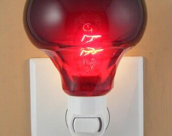 Ruby Red  Glass  Custom Made Night Light