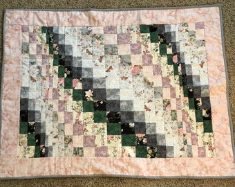 Baby Girl Vintage Kaufman Bargello Quilt - Supporting UNICEF