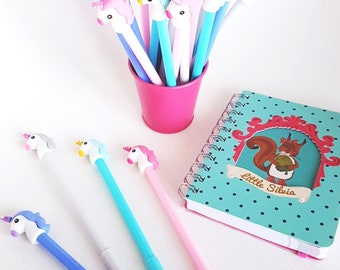 Unicorn Gel Pen,Kawaii Unicorn Gel Pen 0.38mm,Planner Accessories,Kawaii Pens,Stationery,Planner Goodies,Birthday Goodie,Bday Favor Box