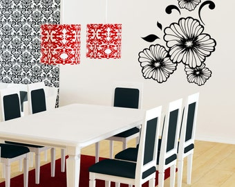 Vinyl Wall Decal Sticker Flowers 1156m