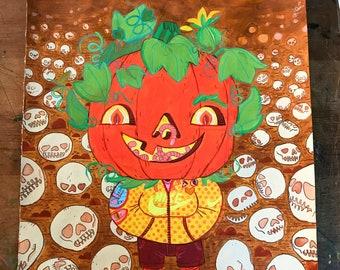 Pumpkin Boy - Halloween Kid