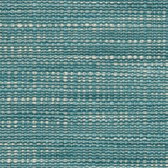 Teal Tweed Upholstery Fabric Aqua Blue Textured Floor Pillow