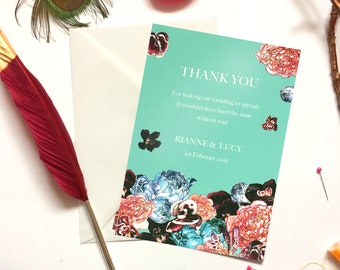 Thank You Wedding Cards in Spring Orient