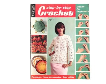 McCall's Crochet With Lesson For Beginners Book 2 Step By Step Crochet
