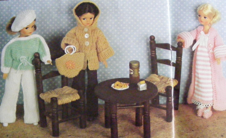 Dolls Clothes PDF Knitting Pattern : 11 - 12 inch dolly . Sindy ...