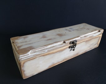 Vintage-style recycled wooden box