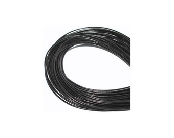 2.5mm Black Greek Leather Round Cord 41796 (5 meters),  Jewelry Cording, Necklace Cord, Bracelet Cording, 2.5mm Cording, 2.5mm Leather Cord