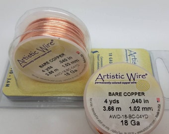 COPPER ARTISTIC WIRE® wire craft, Non-Tarnish Brass Wire. Select 18gauge, 20gauge & 22gauge and Colored