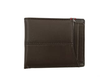 Escape Sleeve Brown Leather Wallet w/ Removable Card Holder