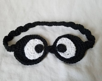 Crochet eye mask, handmade, funny, night mask, sleep mask