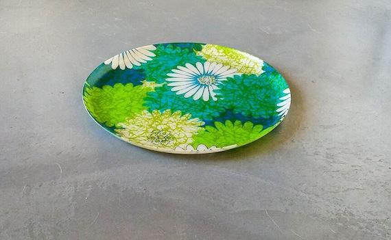& Vintage melamine plate psychedelic platter 60u0027s