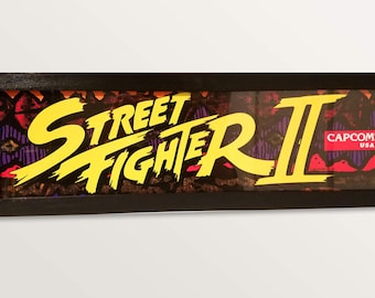 Street Fighter 2 Arcade Style Marquee Light Box