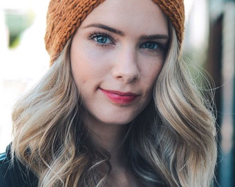 Turban crochet headband
