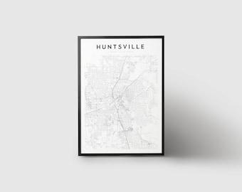 Huntsville Map Print