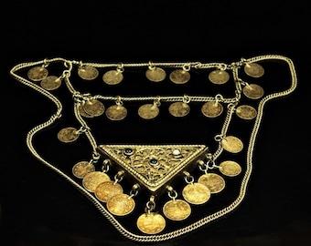 Antique original perfect silver ottoman necklase