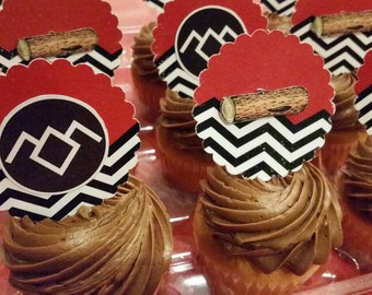 Twin Peaks Party Cupcake Toppers