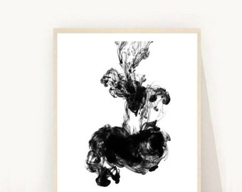 Minimalist Poster, Abstract Print, Printable Art, Black and White Print, Scandinavian Art, Modern Wall Art, Instant Download