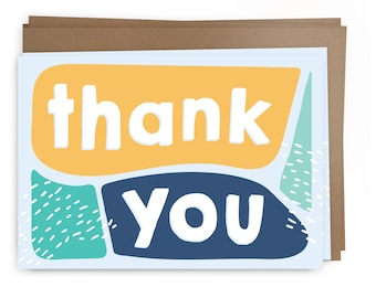 Thank You - Blocks Card Pack