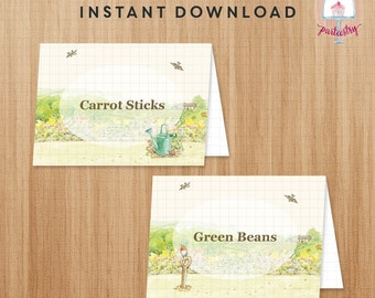 Peter Rabbit Food Label - Printable Food Tent