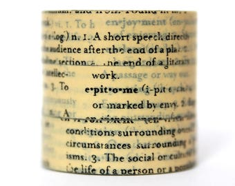 Washi tape newspaper beige text font