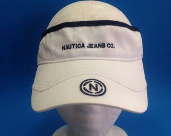 Vintage Nautica Visor Adjustable Strapback Hat 1990s