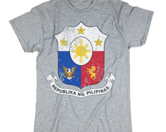 Philippines Shirt. Coat Of Arms Of The Philippines . Philippines T-shirt. Patriotic Philippines Tee.