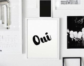 "PRINTABLE Art ""Ooh La La"" Typography Art Print,Paris Bedroom Decor,Fashion Quote Print,Bedroom Art Decor,Fashion Poster,Digital Art"