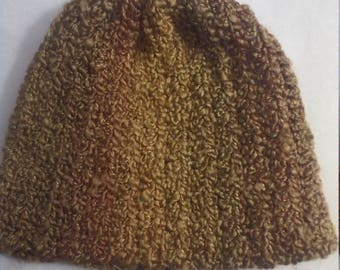 half price stocking hat in shades of gold