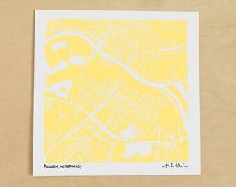 Arnhem Map, Hand-Drawn Map Print of Arnhem, Netherlands
