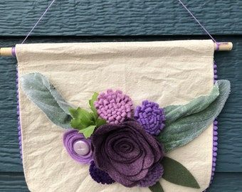 Pretty Purples Wall Hanging