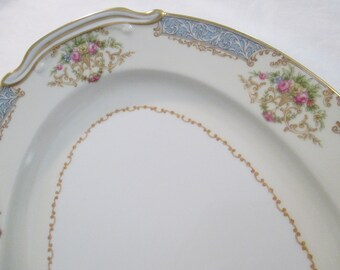 Vintage Noritake China Oval Serving Platter 13 inch, Farmhouse, Rustic, Shabby, Wedding, Tea Party