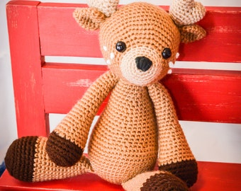 Spotted Fawn/Deer Crocheted Stuffed Animal/Toy (Made to Order)