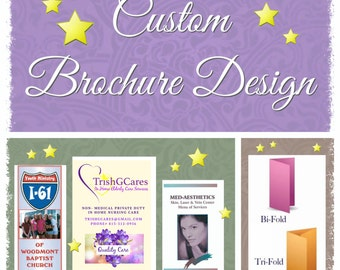 Custom Brochure Design, Bi-Fold Brochure, Tri-Fold Brochure, Business Brochure, Personalized Brochure, Original Graphic Design, DIGITAL FILE