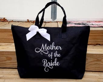 Mother of the Bride Mother of the Groom Tote Bag Personalized Wedding Tote Grandmother Bride MOB MOG Monogrammed Gifts