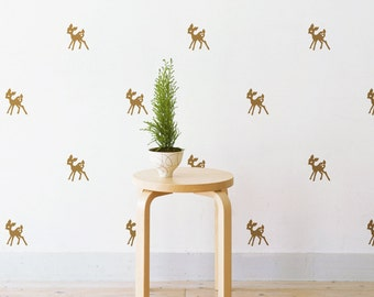 Mini Bambi Wall Patterns   Removable Wall Decal & Sticker for Home, Office, Nursery