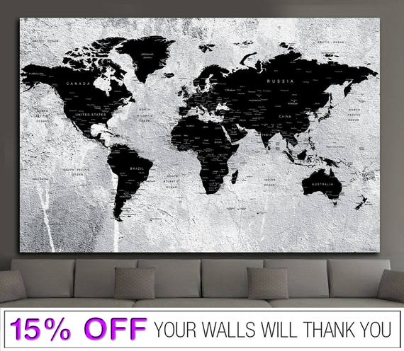 World map push pin word map canvas black white world map world map push pin word map canvas black white world map push pin world map world map wall art world map print world map map canvas gumiabroncs Gallery