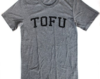 Tofu T-Shirt UNISEX/MENS  -  Available in S M L XL and four shirt colors  - vegan vegetarian