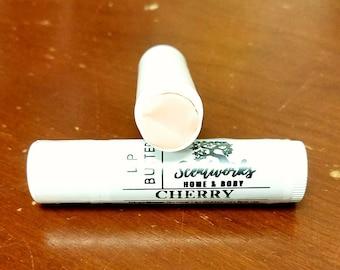 Cherry Lip Butter Balm, Handmade Lip Balm, Lip Moisturizer, Shea Butter Lip Butter Balm, Cocoa Butter Lip Butter Balm, Beeswax Lip Butter