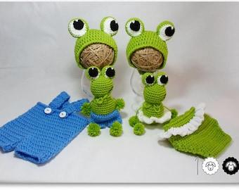 Baby girl prop Baby boy prop Animal prop Frog prop Crochet prop Crochet frog toy Newborn Prop photography prop Frog hat Crochet Animal hat