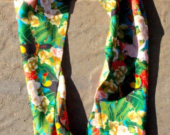 Rainforest Life- Silk Infinity scarf