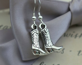 Cowgirl Boot earrings with Sterling earwires