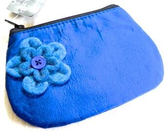 Sale Applique felt flower purse