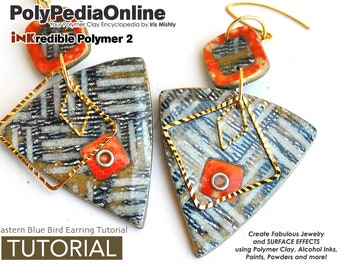 Polymer Clay Tutorial, Polymer Clay Jewelry, DIY Handmade Beads, Alcohol Ink, Clay Beads, Necklace, Bracelet, Earrings, Pendant, Gifts, Fimo