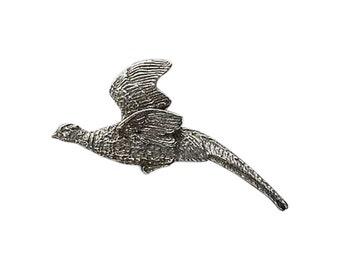 Pheasant Flying ~ Lapel Pin/Brooch ~ B022,BC022PR,BP022