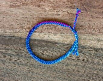 Blue & Purple Zipper Bracelet
