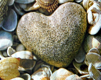 "Towel ""Heart stone"""