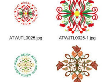 Natural-Ornaments ( 20 Machine Embroidery Designs from ATW ) XYZ17C