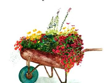 Flowers in Wheelbarrow